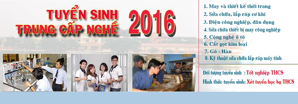 Tuyển sinh trung cấp nghề 2016